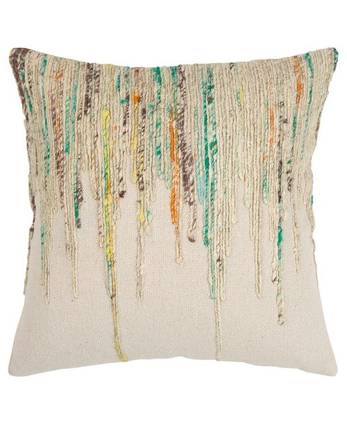 "Rizzy Home 20"" x 20"" Abstract Design Pillow Cover"