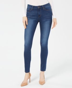 FLYING MONKEY Faded Skinny Jeans in Bami Blue