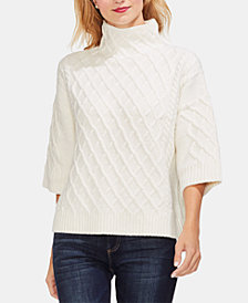 Vince Camuto Cable-Stich Mock-Neck Sweater