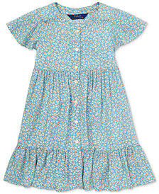 Polo Ralph Lauren Toddler Girls Shirred Floral-Print Dress
