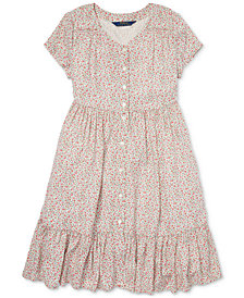 Polo Ralph Lauren Big Girls Floral-Print Woven Dress