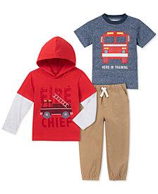 Kids Headquarters Baby Boys 3-Pc. Printed T-Shirts & Jogger Pants Set