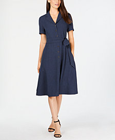 Anne Klein Belted Shirtdress