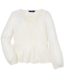 Polo Ralph Lauren Little Girls Gauze Boho Top