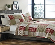 Camano Island Red Full/Queen Quilt Set