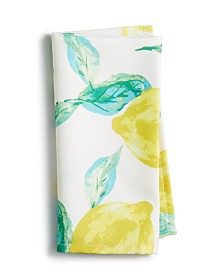 "Bardwil Lemons 19"" x 19"" Indoor/Outdoor Napkin"