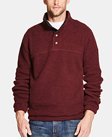 Weatherproof Vintage Men's 1/2 Button Mock Snap Sweater