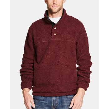 Weatherproof Vintage Men's 1/2 Button Mock Snap Sweater (Multiple Color) from Macys.com for $10.96