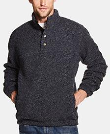 Weatherproof Vintage Men's 1/2 Button Mock Snap Sweater