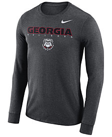 Nike Men's Georgia Bulldogs Long Sleeve Facility T-Shirt