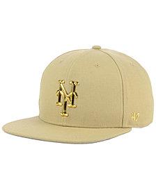 '47 Brand New York Mets Khaki Snapback Cap