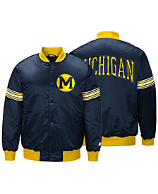 G-III Sports Men's Michigan Wolverines Draft Pick Varsity Satin Jacket