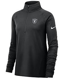 Women's Oakland Raiders Half-Zip Core Element Pullover