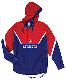 Mitchell & Ness Men's New England Patriots Half-Zip Anorak Jacket