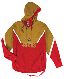 Mitchell & Ness Men's San Francisco 49ers Half-Zip Anorak Jacket