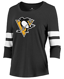 Majestic Women's Pittsburgh Penguins Let Loose Raglan T-Shirt