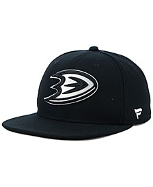 NHL Authentic Headwear Anaheim Ducks Black DUB Fitted Cap