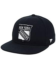 NHL Authentic Headwear New York Rangers Black DUB Fitted Cap