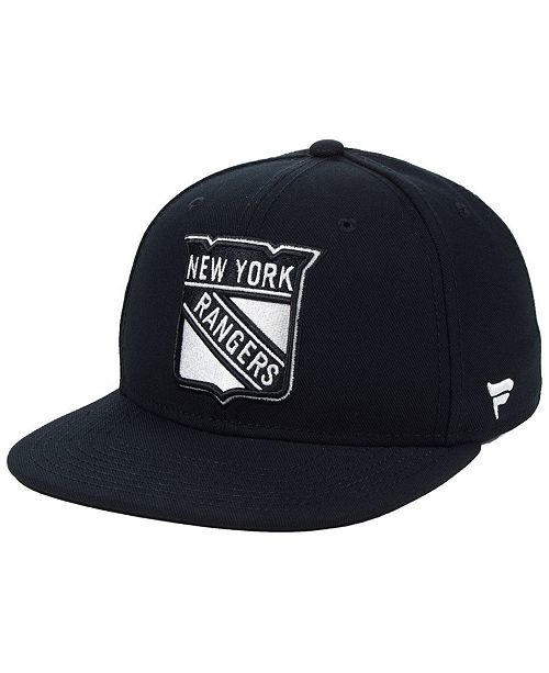 Authentic NHL Headwear NHL Authentic Headwear New York Rangers Black DUB Fitted Cap