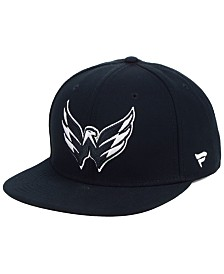NHL Authentic Headwear Washington Capitals Black DUB Fitted Cap