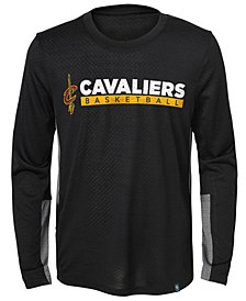 Jordan Cleveland Cavaliers Covert Long Sleeve T-Shirt, Little Boys (4-7)