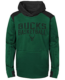 Outerstuff Milwaukee Bucks Off The Court Hoodie, Big Boys (8-20)