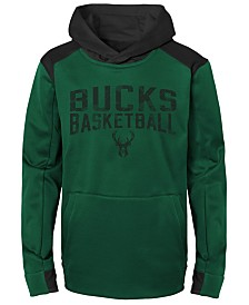 Outerstuff Milwaukee Bucks Off The Court Hoodie, Big Boys (8-20)