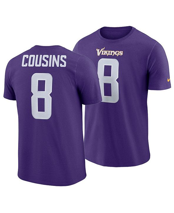 Nike Men's Kirk Cousins Minnesota Vikings Pride Name and Number Wordmark T-Shirt