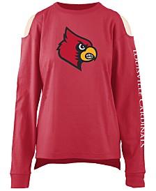 Pressbox Women's Louisville Cardinals Cold Shoulder Long Sleeve T-Shirt