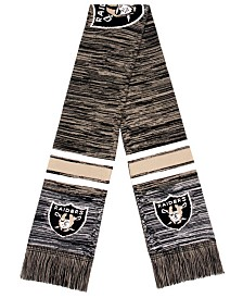 Forever Collectibles Oakland Raiders Knit Color Blend Big Logo Scarf
