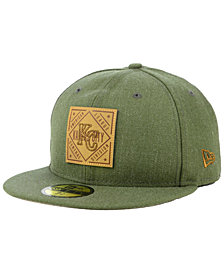 New Era Kansas City Royals Leather Patch 59FIFTY-FITTED Cap