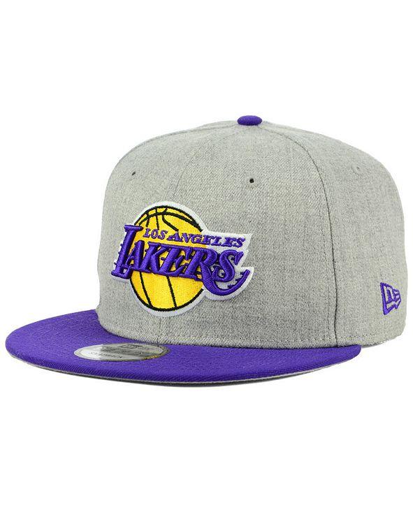 New Era Los Angeles Lakers Heather Gray 9FIFTY Snapback Cap