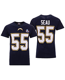 Majestic Men's Junior Seau San Diego Chargers Hall of Fame Eligible Receiver Triple Peak T-Shirt