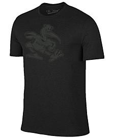 Men's Miami Hurricanes Black Out Dual Blend T-Shirt