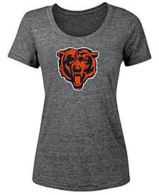 Women's Chicago Bears Tri-Blend Logo T-Shirt