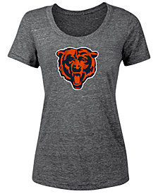 5th & Ocean Women's Chicago Bears Tri-Blend Logo T-Shirt