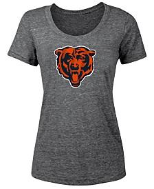 5th & Ocean Women's Chicago Bears Tri-Blend Logo T-Shirt