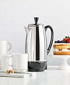 12-Cup Percolator, Stainless Steel, FCP412