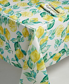 "Bardwil Lemons 60"" x 104"" Indoor/Outdoor Tablecloth"