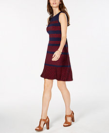 MICHAEL Michael Kors Paisley-Print Striped Dress, In Regular & Petite Sizes