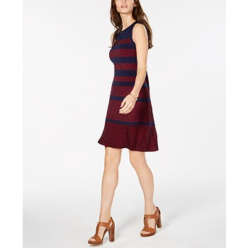 Michael Kors Paisley-Print Striped Dress