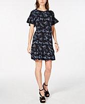 MICHAEL Michael Kors Printed Ruffled Dress, In Regular   Petite Sizes 88564be58fa