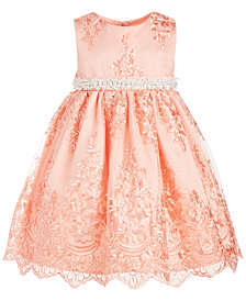 Blueberi Boulevard Little Girls Faux Pearl Trim Dress