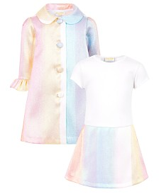 Blueberi Boulevard Little Girls Rainbow Coat Dress