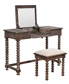 Ashley Vanity Set with Bench and Mirror