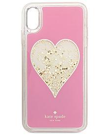 kate spade new york Heart Liquid Glitter iPhone X Plus Case