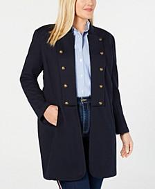 Plus Size Long Band Jacket