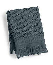 "CLOSEOUT! French Connection Dorinda Cotton 13"" x 13"" Fringe Washcloth, Created for Macy's"