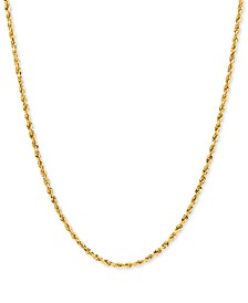 "Rope Solid 18"" Chain Necklace in 10k Gold"