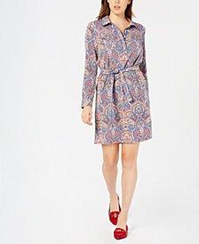 Tommy Hilfiger Paisley-Print Shirtdress, Created for Macy's
